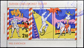 SWEDEN - CIRCA 1987: Stamps printed in Sweden dedicated to Circus, circa 1987 — Стоковое фото
