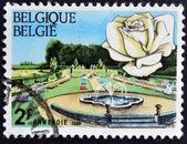 BELGIUM - CIRCA 1969: A stamp printed in Belgium shows Annevoie gardens, circa 1969 — Stockfoto