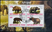 CHAD - CIRCA 2010: Stamps printed in Chad dedicated to African animals, circa 2010 — Stock Photo