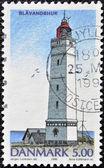 DENMARK - CIRCA 1996: A stamp printed in Denmark shows Blavandshur Lighthouse, circa 1996 — Stockfoto