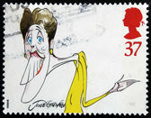 UNITED KINGDOM - CIRCA 1998: A stamp printed in Great Britain dedicated to comedians, shows Joyce Grenfell, circa 1998 — Stock Photo