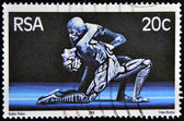 SOUTH AFRICA - CIRCA 1981: A stamp printed in RSA shows scene of raka ballet, circa 1981 — Stock Photo