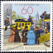Stockfoto: GERMANY - CIRC1981: stamp printed in Germany shows by Mailcoach, lithograph, circ1981.