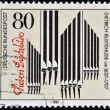 GERMANY - CIRCA 1987: A stamp printed in Germany dedicated to Dietrich Buxtehude shows pipe organ, circa 1987 — Stock Photo
