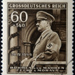 GERMAN REICH - CIRC1944: stamp printed in Germany shows image of Adolf Hitler, circ1944 — Stock Photo #18734437