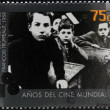 Royalty-Free Stock Photo: ARGENTINA - CIRCA 1995: A stamp printed in Argentina dedicated to 100 years of world cinema shows scene 400 Blows by Francois Truffaut, circa 1995