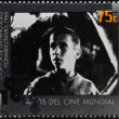 Stock Photo: ARGENTIN- CIRC1995: stamp printed in Argentindedicated to 100 years of world cinemshows scene of Chronicle of Boy Alone by Leonardo Favio, circ1995