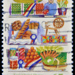 AUSTRALIA - CIRCA 1987: A stamp printed in Australia shows farm products, Agricultural Shows series, circa 1987 — Stock Photo
