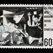 "CZECHOSLOVAKIA - CIRCA 1966: A stamp printed in Czechoslovakia shows painting by Pablo Picasso ""Guernica"" , circa 1966 — Stock Photo #18735389"