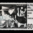 "CZECHOSLOVAKIA - CIRCA 1966: A stamp printed in Czechoslovakia shows painting by Pablo Picasso ""Guernica"" , circa 1966 — Stock Photo"