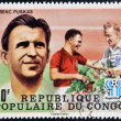 CONGO - CIRCA 1978: A stamp printed in Congo dedicated to the World Cup in Argentina 1978, shows Ferenc Puskas, circa 1978 — Stock Photo