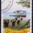 Stock Photo: CUB- CIRC1999: stamp printed in Cubcelebrating 40th anniversary of triumph of Revolution, circ1999