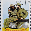 CUBA - CIRCA 1999: A stamp printed in Cuba shows Image of Fidel Castro and Che Guevara, circa 1999 — Stock Photo #18735737