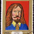 DAVAAR ISLAND - CIRCA 1977: A stamp printed in Davaar Island dedicated to the kings and queens of Britain, shows King Charles I (1625 - 1649), circa 1977 — Stock Photo