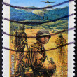 FRANCE - CIRCA 2004: A stamp printed in France tribute to the combatants in the Vietnam War, circa 2004 — Stock Photo