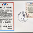 Stock Photo: FRANCE - CIRC1964: Stamp printed in France celebrating anniversary of liberation, shows Appeal of 18 June 1940 by Charles de Gaulle, circ1964