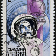 HUNGARY - CIRCA 1982: A Stamp printed in Hungary shows the Yuri Gagarin, Vostok, circa 1982 — Stock Photo