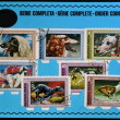 HUNGARY - CIRCA 1972: Stamps printed in Hungary shows dogs, order complete, circa 1972 — Stock Photo
