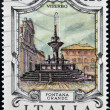 ITALY - CIRCA 1979: a stamp printed in Italy shows Great Fountain, Viterbo, circa 1979 — Stock Photo #18736553