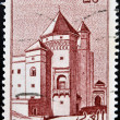 MOROCCO - CIRCA 1955: A stamp printed in Morocco shows Mahakma - Casablanca, circa 1955 — Stock Photo #18736593
