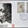 MONACO - CIRCA 1969: Stamps printed in Monaco dedicated to anniversary of the death of Leonardo da Vinci, circa 1969 — Stock Photo