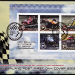 NEW ZEALAND - CIRCA 2009. Stamps printed in New Zealand dedicated to New Zealand champions of world motorsport, circa 2009 - Stock Photo
