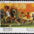 PORTUGAL - CIRCA 1978: A stamp printed in Portugal dedicated to sport for all, circa 1978 — Stock Photo #18736677
