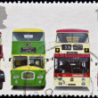 Stock Photo: UNITED KINGDOM - CIRC2001: stamp printed in Great Britain shows Bristol LodekkFSF6G, Leyland TitPD3/4, Leyland AtlantePDR1/1 and Daimler Fleetline CRG6LX-33, circ2001