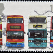 Stock Photo: UNITED KINGDOM - CIRC2001: stamp printed in Great Britain shows Daimler Fleetline CRG6LX-33, MCW Metrobus DR102/43, Leyland OlympiONLXB/1R and Dennis Trident, circ2001