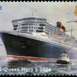 Stock Photo: UNITED KINGDOM - CIRC2004: stamp printed in Great Britain dedicated to OceLiners, shows RMS Queen Mary 2,2004, circ2004