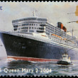 Stock Photo: UNITED KINGDOM - CIRCA 2004: A stamp printed in Great Britain dedicated to Ocean Liners, shows RMS Queen Mary 2,2004, circa 2004
