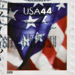 UNITED STATES OF AMERICA - CIRCA 2009: A stamp printed in USA shows the American flag, circa 2009 — Stock Photo