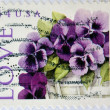 UNITED STATES OF AMERICA - CIRCA 2010: A stamp printed in USA shows basket with lilac flowers, love, circa 2010 — Stock Photo