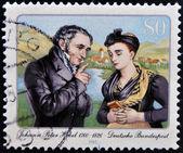 GERMANY - CIRCA 1985: A stamp printed in Germany dedicated to Johann Peter Hebel, circa 1985 — Zdjęcie stockowe