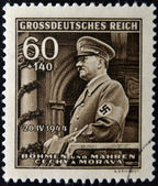 GERMAN REICH - CIRCA 1944: A stamp printed in Germany shows image of Adolf Hitler, circa 1944 — Stock Photo