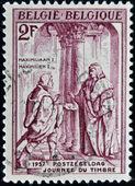 BELGIUM - CIRCA 1957: A stamp printed in Belgium shows Maximilian I of Hamburg, circa 1957 — Stock Photo