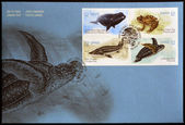 CANADA - CIRCA 2007: stamps printed in Canada dedicated to marine animals, circa 2007 — Stok fotoğraf
