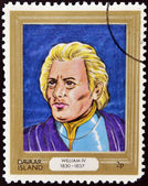 DAVAAR ISLAND - CIRCA 1977: A stamp printed in Davaar Island dedicated to the kings and queens of Britain, shows King William IV (1830 - 1837), circa 1977 — Stock Photo