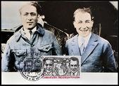 франция - около 1981: марку, напечатанную во франции показывает costes и le брикс, около 1981 — Стоковое фото