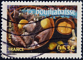 FRANCE - CIRCA 2006: A stamp printed in France shows Bouillabaisse, circa 2006 — 图库照片