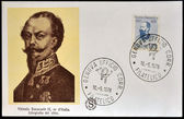 ITALY - CIRCA 1978: A stamp printed in Italy shows King Vittorio Emanuele II, circa 1978 — Stock Photo