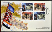 NEW ZEALAND - CIRCA 2003: Stamps printed in New Zealand dedicated to conquest of Everest, circa 2003 — Stock Photo
