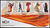 NEW ZEALAND - CIRCA 2004: Stamps printed in New Zealand dedicated to World of WearableArt, circa 2004 — Stock Photo