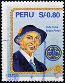 PERU - CIRCA 1994: A stamp printed in Peru shows Lady Olave Baden Powell, circa 1994 — Stock Photo
