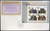 UNITED KINGDOM - CIRCA 1978: Stamps printed in Great Britain dedicated to british architecture, shows historic buildings, circa 1978 — Stock Photo