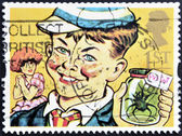 UNITED KINGDOM - CIRCA 1993: A stamp printed in Great Britain shows William Brown (William books), circa 1993 — Stok fotoğraf