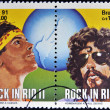 BRAZIL - CIRC1991: Stamps printed in Brazil dedicated to Rock in Rio, shows Cazuzand Raul Seixas, circ1991 — Stock Photo #19185133