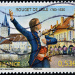 FRANCE - CIRC2006: stamp printed in France shows Claude Joseph Rouget de Lisle, composer of Marseillaise, French national anthem, circ2006 — Stock Photo #19185217