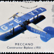 UNITED KINGDOM  - CIRCA 2003: A stamp printed in Great Britain shows Meccano, constructor biplane, circa 2003 — Stock Photo