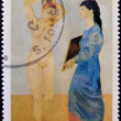SAO TOME AND PRINCIPE - CIRCA 1990: A stamp printed in Sao Tome shows The toilet by Pablo Picasso, circa 1990 — Stock Photo